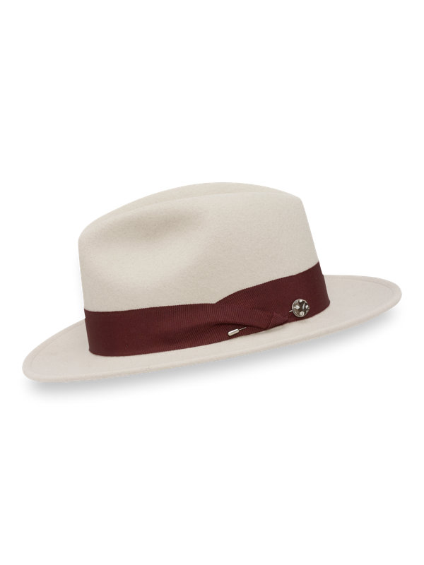 Wool Fedora with Feather Pin