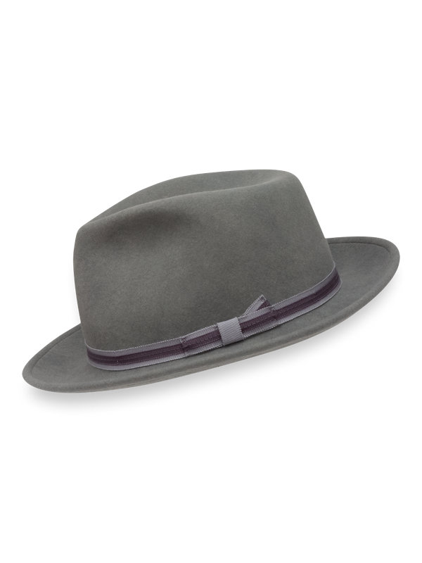 Wool Fedora with Dual Colored Band