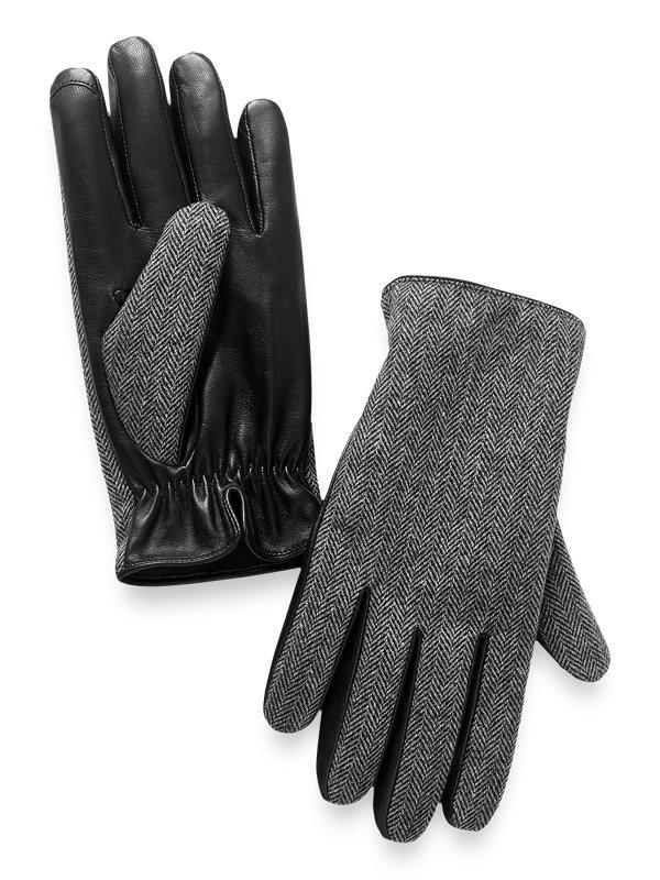 Herringbone Leather Glove
