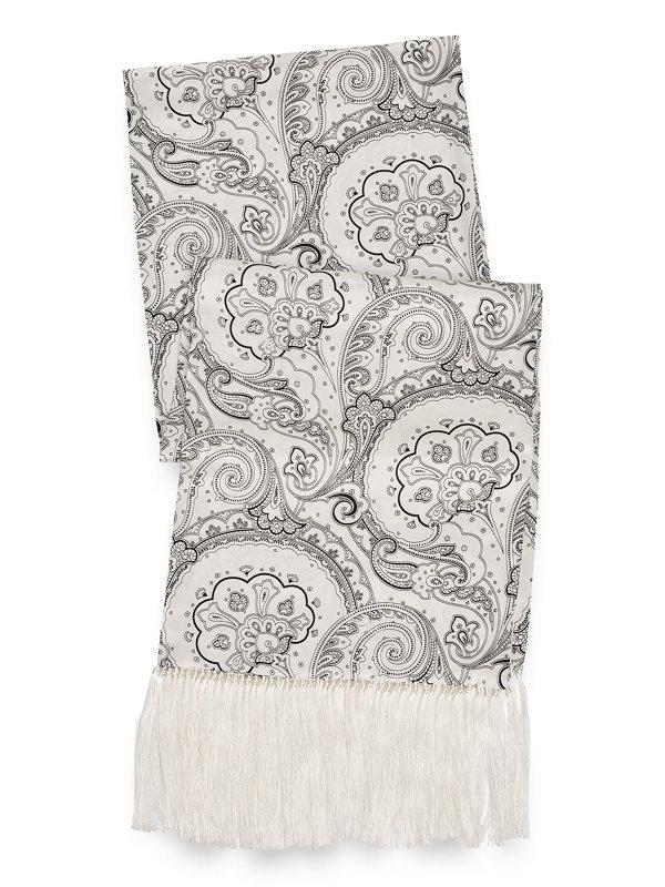Silk Paisley Printed Scarf