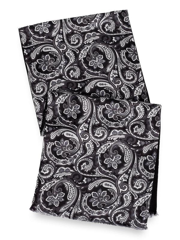 Silk & Wool Paisley Printed Scarf