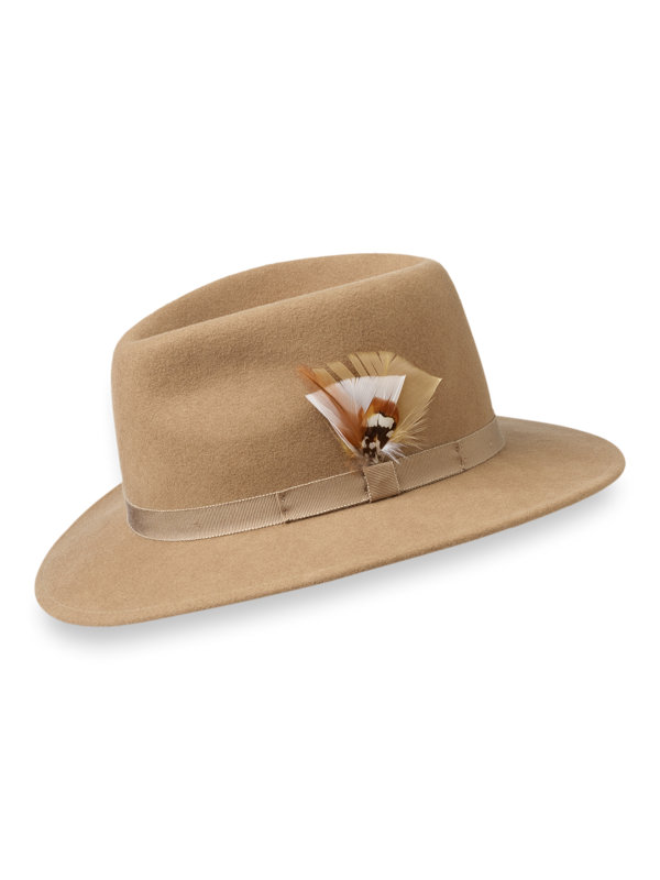 Wool Fedora With Feather