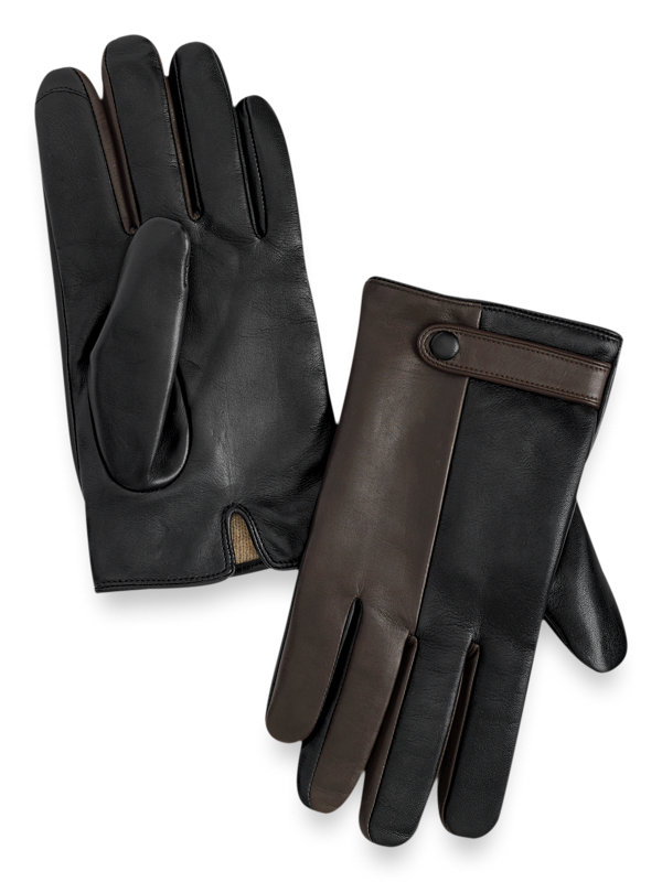 Goatskin Colorblock Leather Gloves