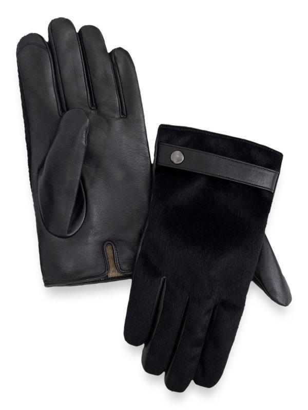 Goatskin leather & Cavallino Fur Gloves