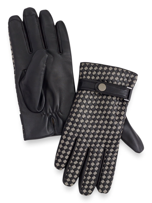 Goatskin Woven Leather Gloves