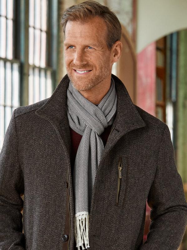 Reversible Paisley Silk & Wool Scarf