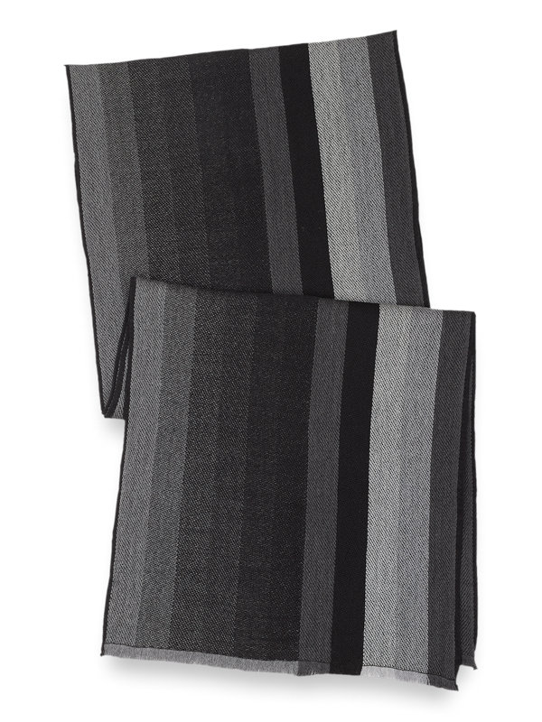 Italian Merino Wool Stripe Scarf