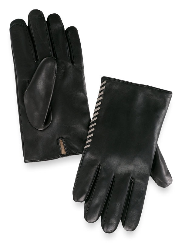Goatskin Laced Leather Gloves