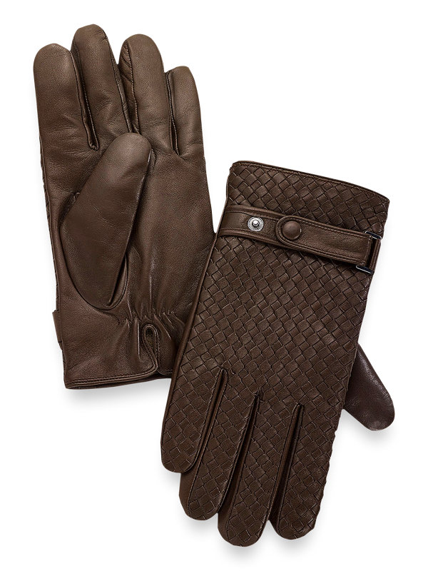 Goatskin Woven Leather Gloves