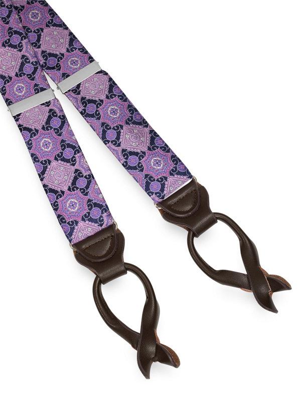 Silk Medallion Suspender