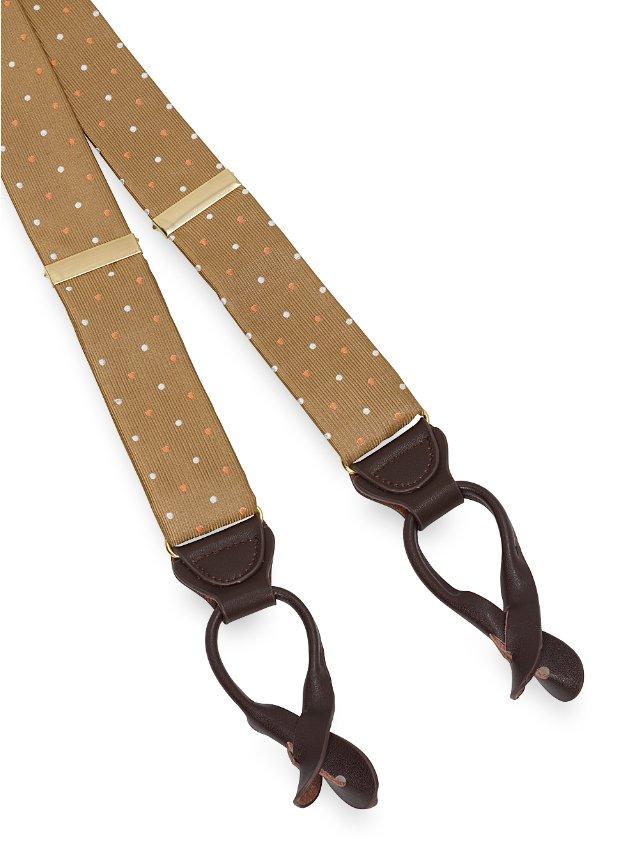 Silk Dot Suspenders