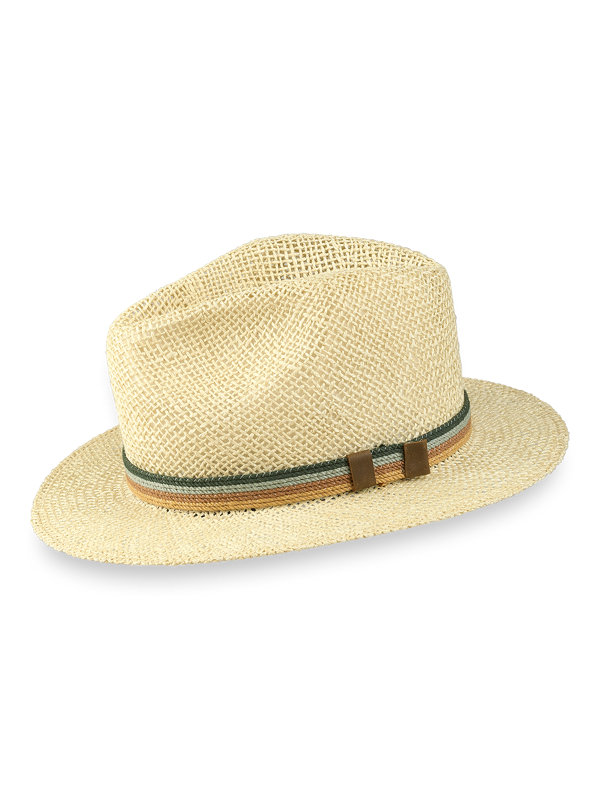 Straw Fedora With Woven Band