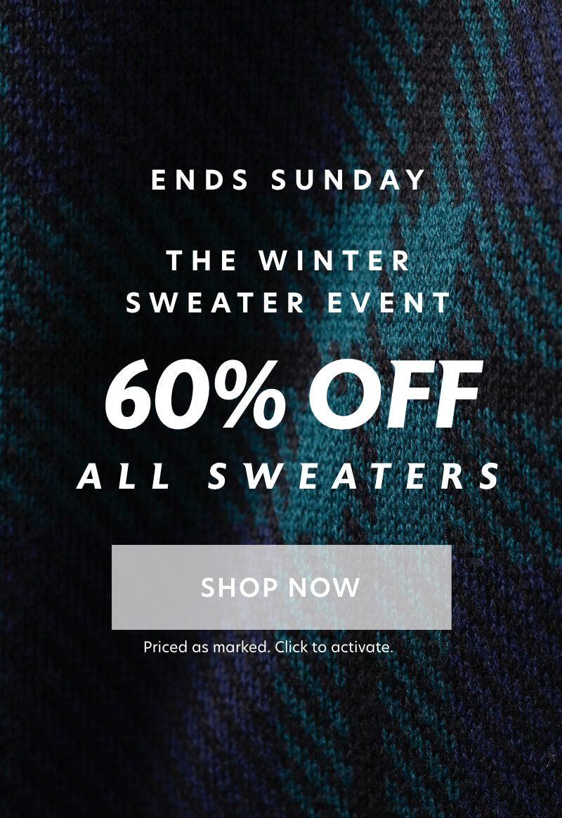 Ends Sunday: The Winter Sweater Event