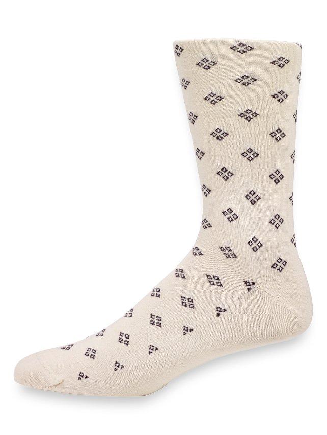 Pima Cotton Medallion Motif Socks