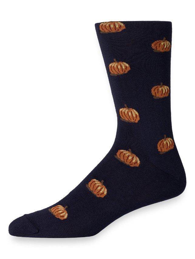 Pima Cotton Pumpkin Motif Socks