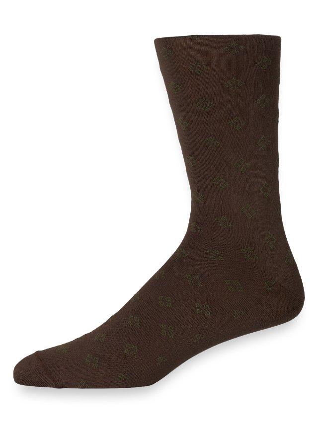 Pima Cotton Medallion Socks