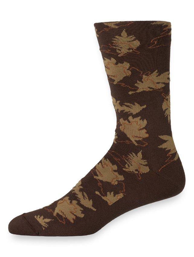 Pima Cotton Autumn Leaves Socks