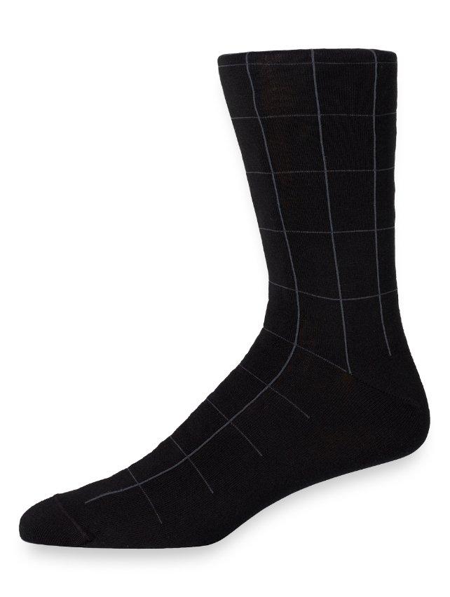 Pima Cotton Grid Socks