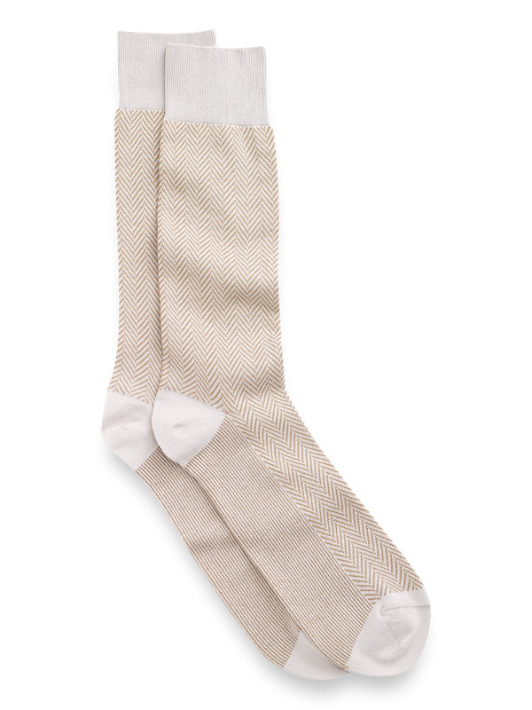 Pima Cotton Herringbone Socks