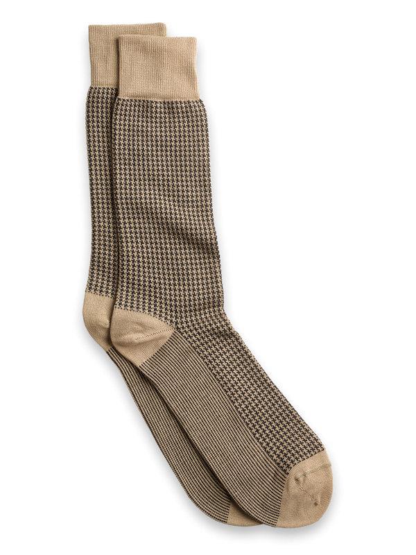 Houndstooth Pima Cotton Sock