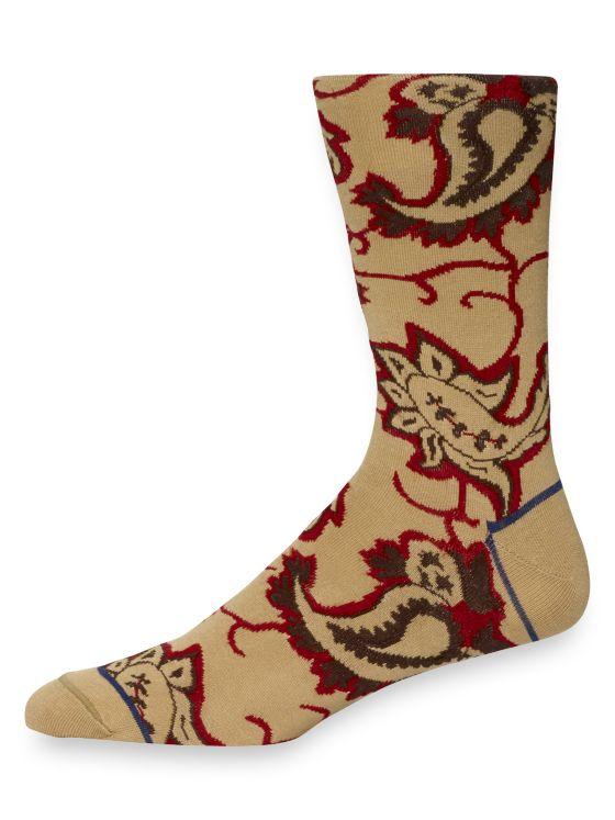 Pima Cotton Abstract Paisley Socks
