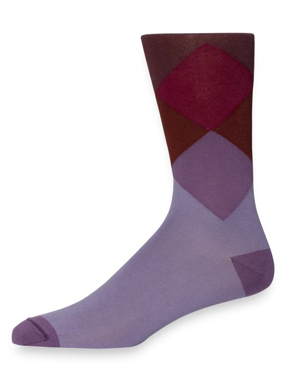 Pima Cotton Gradient Argyle Socks