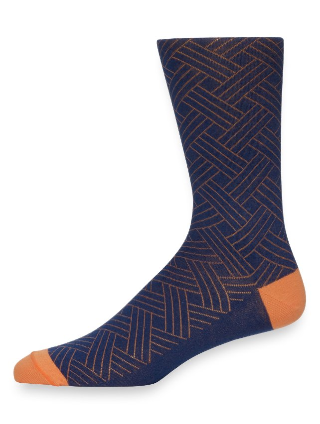 Pima Cotton Basketweave Socks