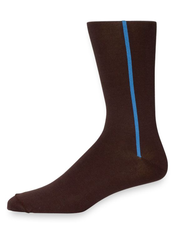 Pima Cotton Vertical Stripe Socks