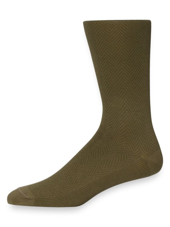 Pima Cotton Herringbone Socks