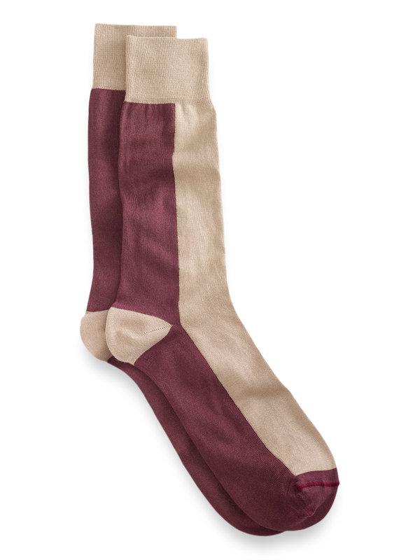 Pima Cotton Colorblock Socks