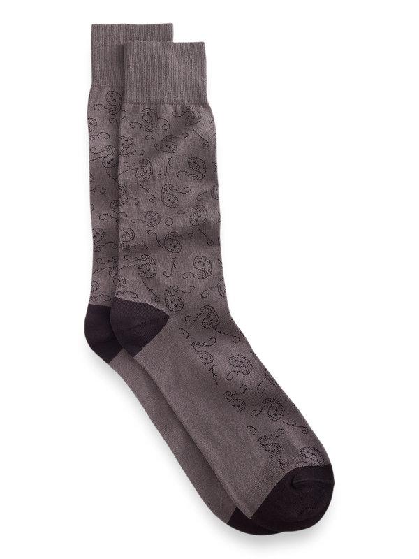 Pima Cotton Paisley Socks