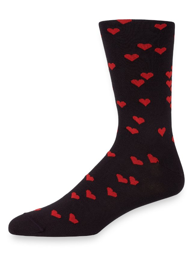 Pima Cotton Hearts Socks