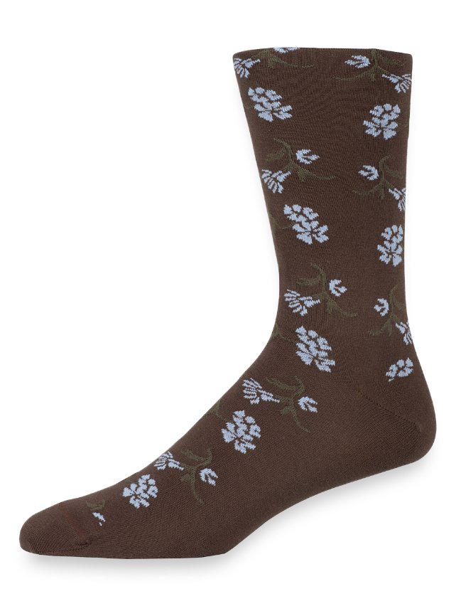 Pima Cotton Floral Socks