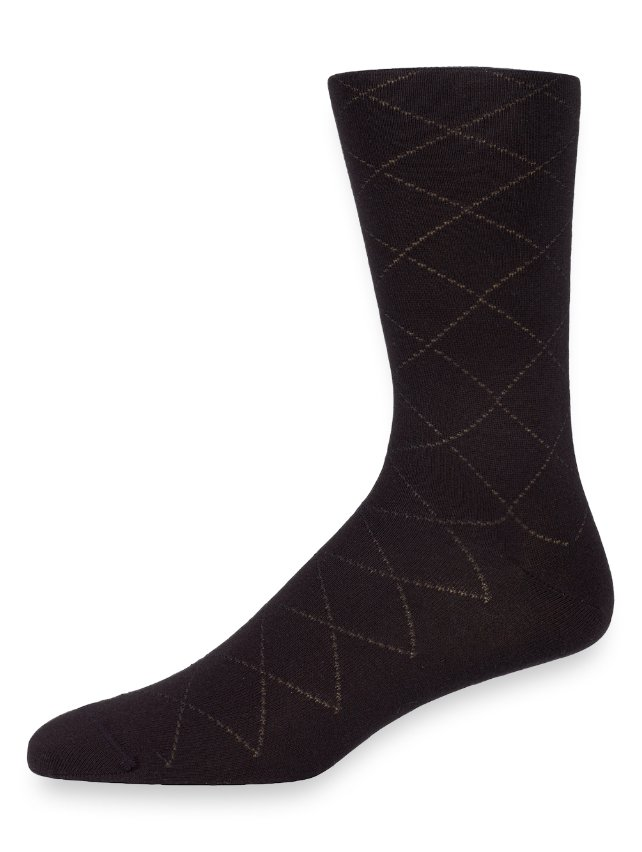 Pima Cotton Plaid Raker Socks
