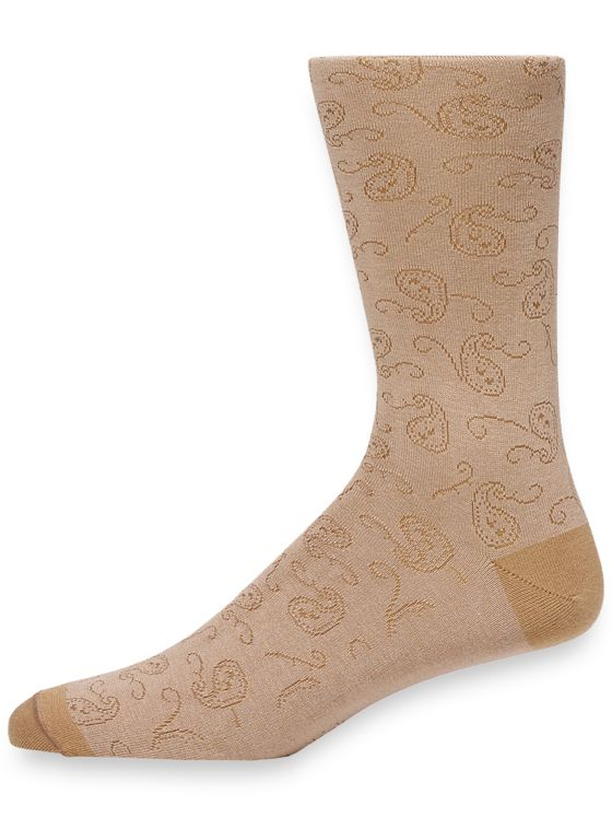 Pima Cotton Paisley Socks