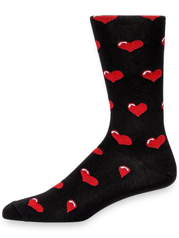 Pima Cotton Hearts Socks
