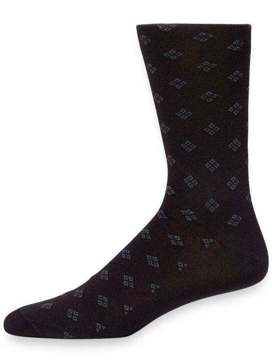 Pima Cotton Mini Medallion Socks