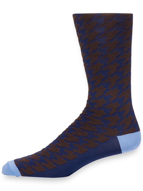 Pima Cotton Houndstooth Socks