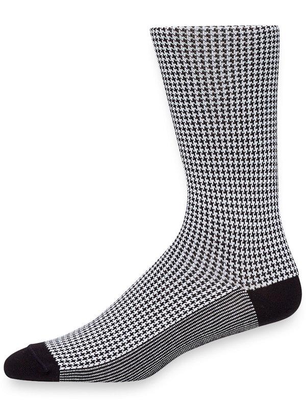 Pima Cotton Mini Houndstooth Socks