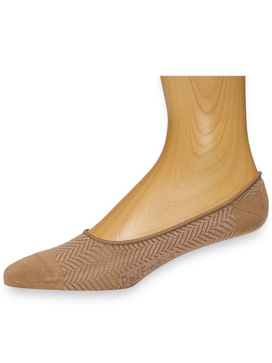 Pima Cotton Herringbone Loafer Socks