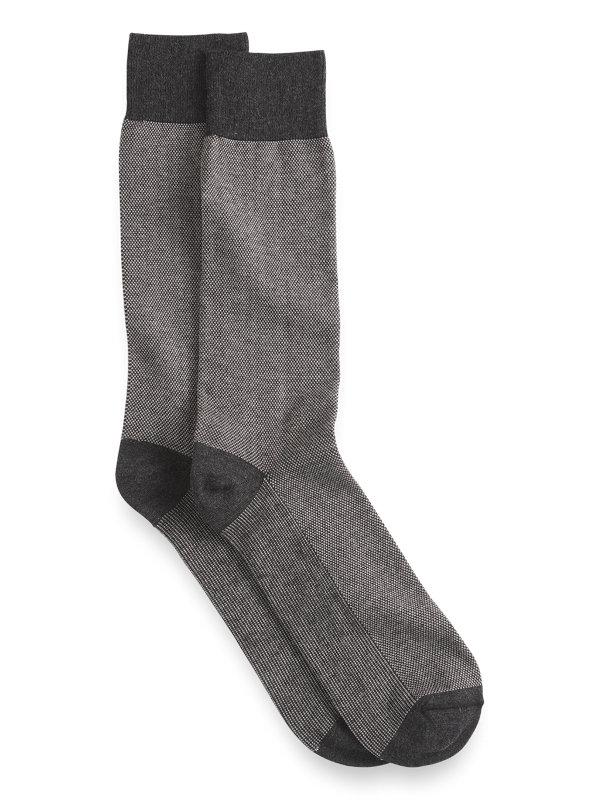 Pima Cotton Textured Solid Socks
