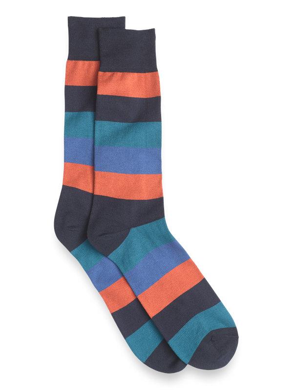 Bold Stripe Pima Cotton Socks