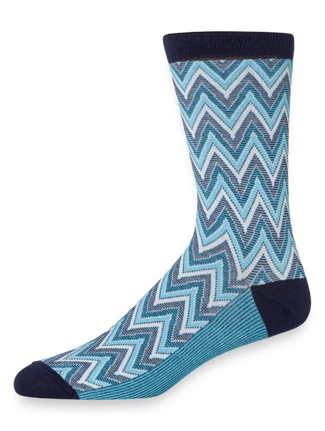 Pima Cotton Chevron Socks