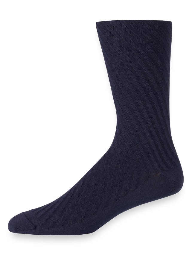 Pima Cotton Tonal Vertical Stripe Socks