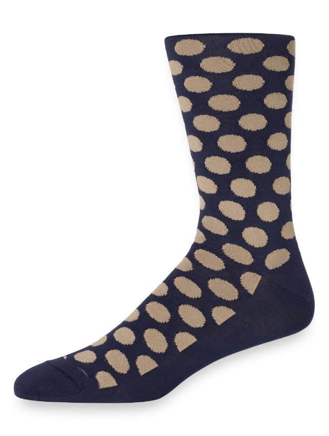 Pima Cotton Dots Socks