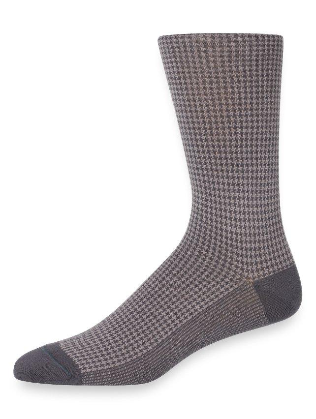 Pima Cotton Houndstooth Socks