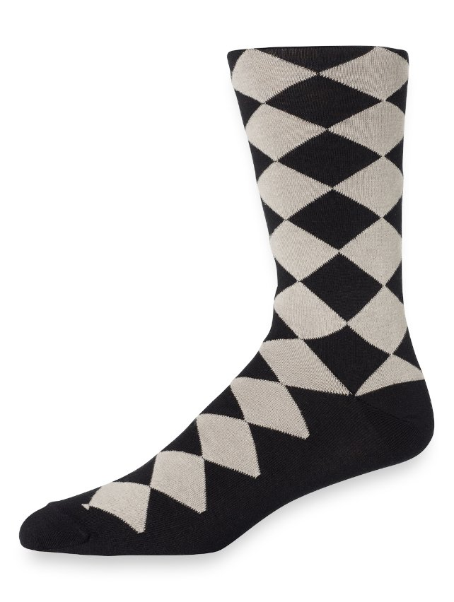 Pima Cotton Argyle Socks