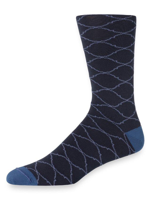 Pima Cotton Medallion Plaid Socks