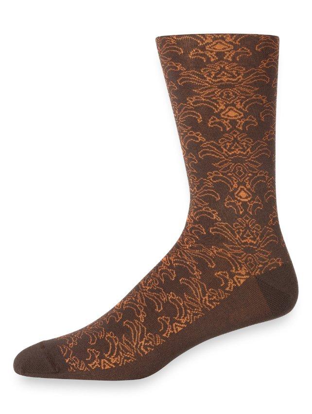 Pima Cotton Abstract Motif Socks