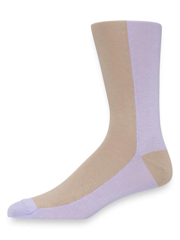Pima Cotton Color Block Socks